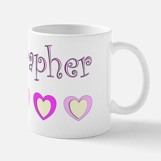 Sonographer Pink hearts Mug