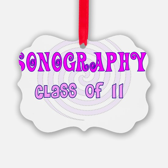 Sonography class of 11 pink Ornament