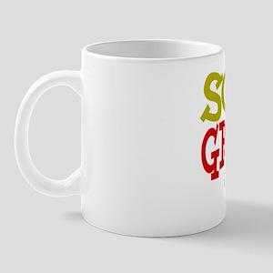 Sonographer green red BOLD class of 11 Mug