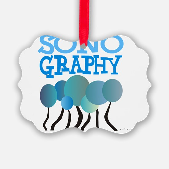 Sonography BLUE TREES Ornament