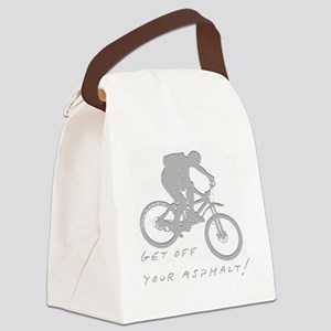 10x10_mtb_asphalt Canvas Lunch Bag
