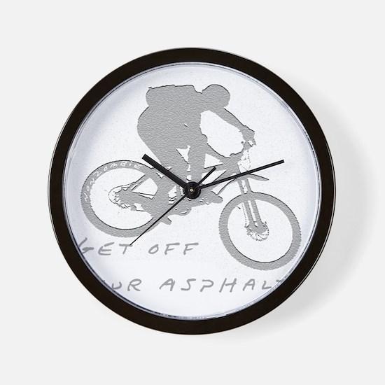 10x10_mtb_asphalt Wall Clock