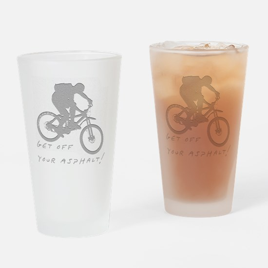 10x10_mtb_asphalt Drinking Glass