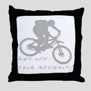 10x10_mtb_asphalt Throw Pillow