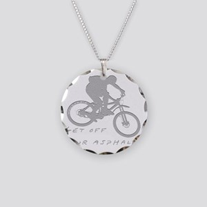 10x10_mtb_asphalt Necklace Circle Charm