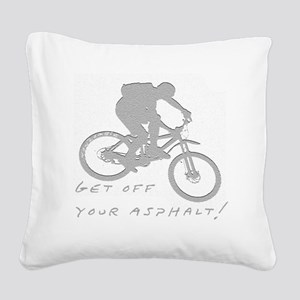 10x10_mtb_asphalt Square Canvas Pillow
