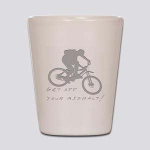 10x10_mtb_asphalt Shot Glass