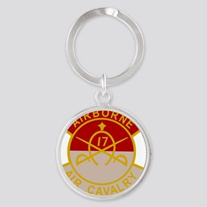 17th Air Cavalry 1st Squadron Airbo Round Keychain