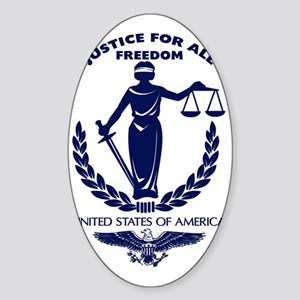 Justice For All Sticker (Oval)
