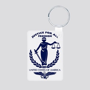 Justice For All Aluminum Photo Keychain