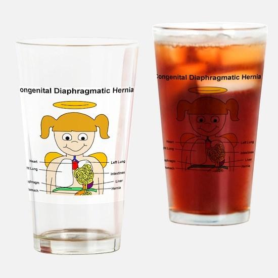 CDHcherubdiagramXLARGE Drinking Glass
