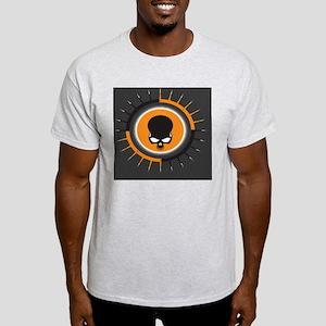 OrangeGraySpikeSkull  Light T-Shirt