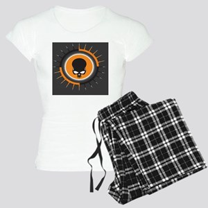 OrangeGraySpikeSkull  Women's Light Pajamas