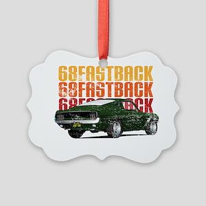 68Fastback_distress Picture Ornament