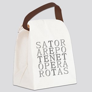 sator-embossed Canvas Lunch Bag