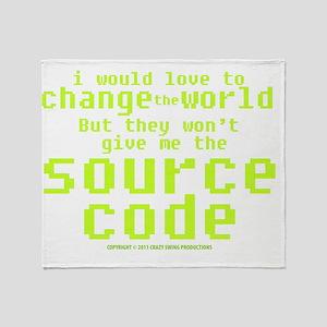 sourcecode_darkshirt Throw Blanket