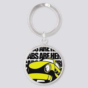 Cabs are here Round Keychain