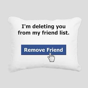 Friend Delete_Light copy Rectangular Canvas Pillow