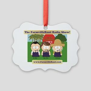 cyber_cow_barn1 Picture Ornament