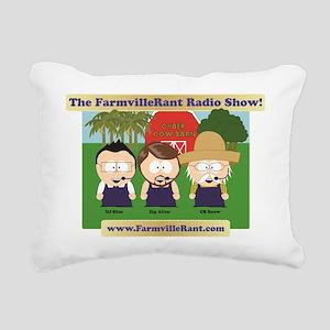 cyber_cow_barn1 Rectangular Canvas Pillow