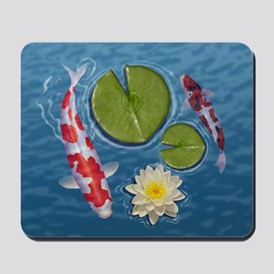 Koi Clock Mousepad