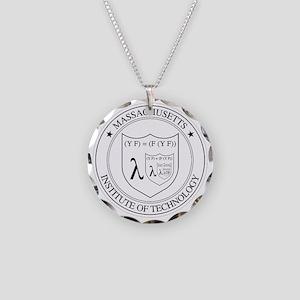 Lambda Necklace Circle Charm