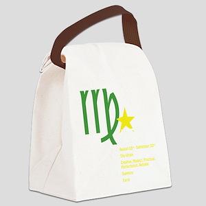 virgodetaildark Canvas Lunch Bag