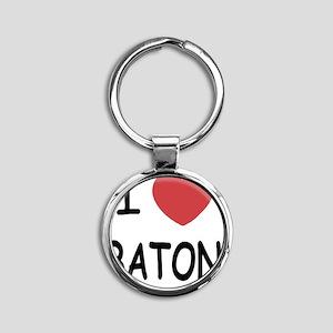 BATON Round Keychain