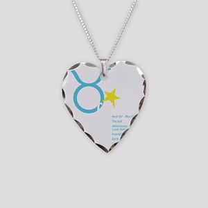 Taurusdetaildark Necklace Heart Charm