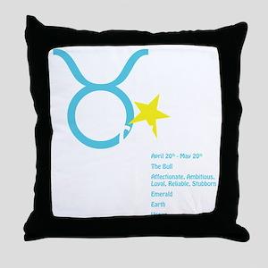 Taurusdetaildark Throw Pillow