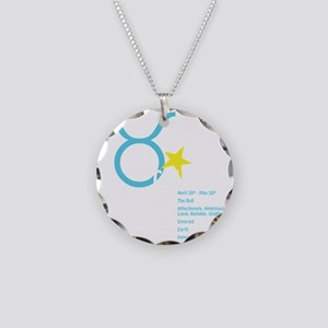 Taurusdetaildark Necklace Circle Charm