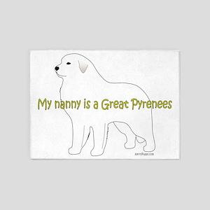 GreatPyrenees_Nanny 5'x7'Area Rug
