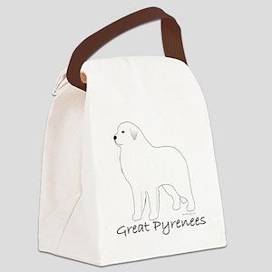 GreatPyreneesText Canvas Lunch Bag
