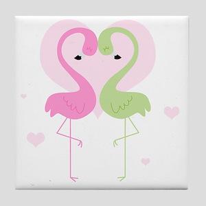 flamingos cp1 Tile Coaster