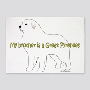 GreatPyrenees_Brother 5'x7'Area Rug