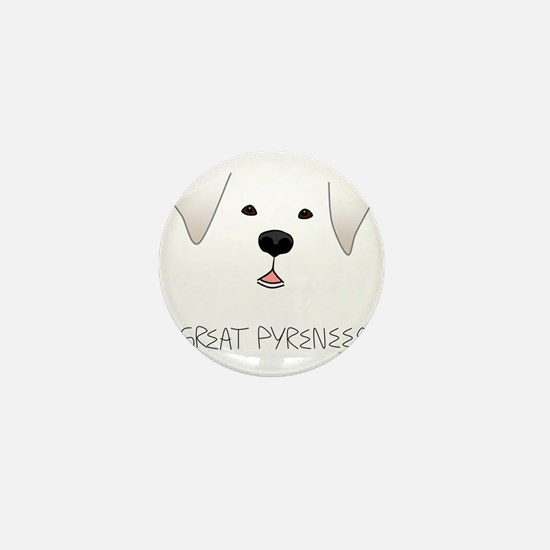 GreatPyreneesFace Mini Button