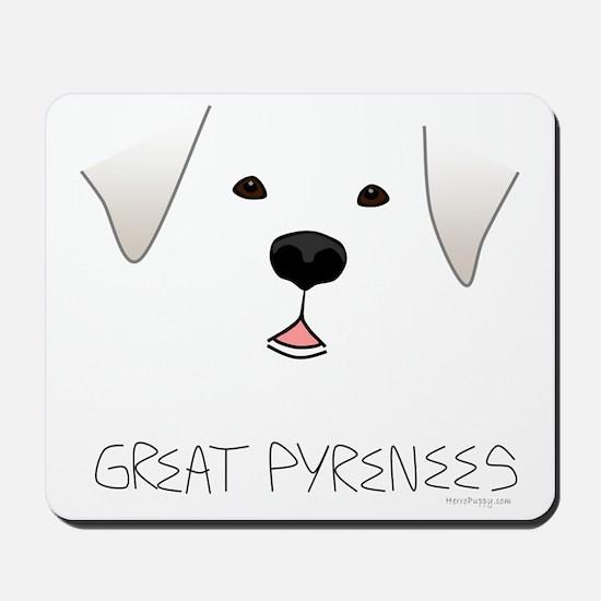 GreatPyreneesFace Mousepad