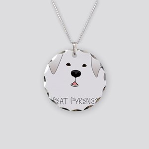 GreatPyreneesFace Necklace Circle Charm