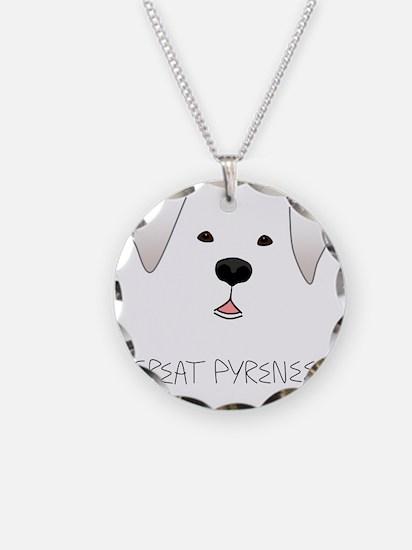 GreatPyreneesFace Necklace