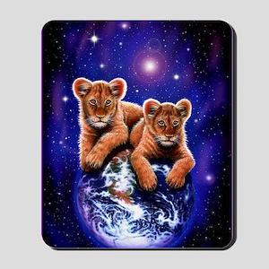 Lion Cubs on Earth Mousepad