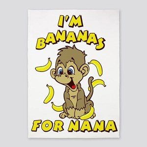 I'm Banana's For Nana 5'x7'Area Rug
