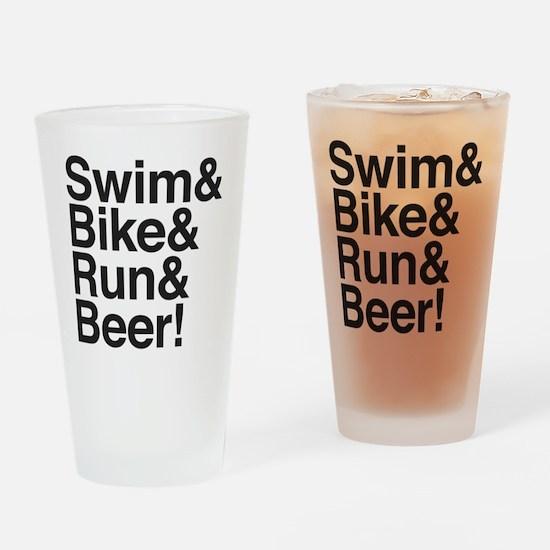 Swim-bike-beer-2 Drinking Glass