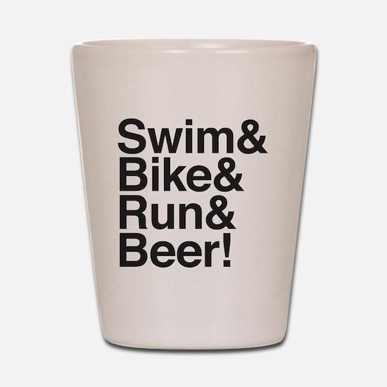 Swim-bike-beer-2 Shot Glass