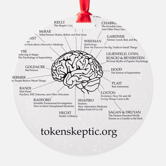 Token Skeptic Books For The Brain Ornament