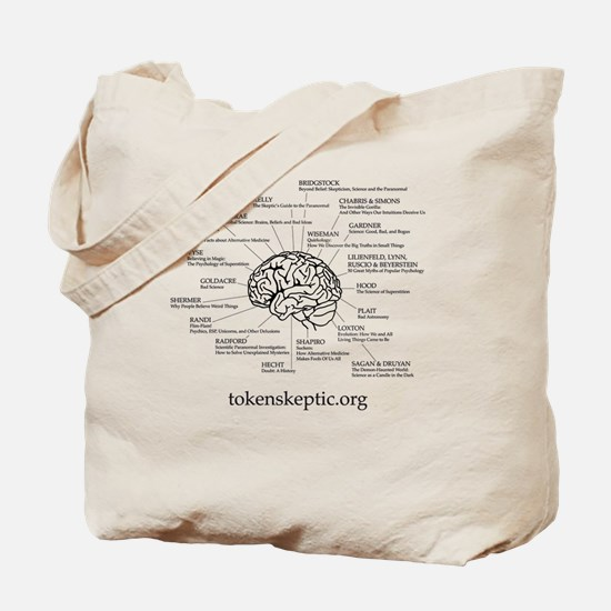 Token Skeptic Books For The Brain Tote Bag