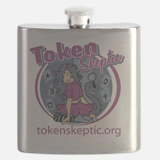 Token Skeptic Roller Derby Purple Flask