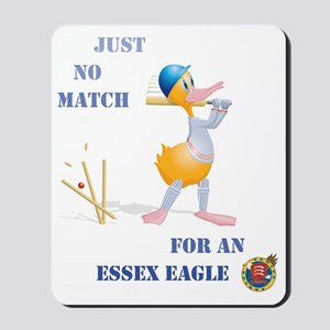 456 Cricket Duck Bowled with Essex Text Mousepad
