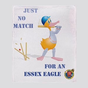 456 Cricket Duck Bowled with Essex T Throw Blanket