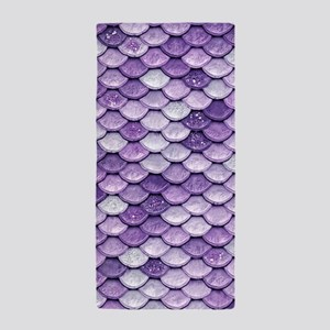 Purple Iridescent Shiny Glitter Mermai Beach Towel