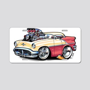 56OLDSblowFloat Aluminum License Plate
